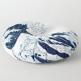 The Great Wave - Halftone Floor Pillow