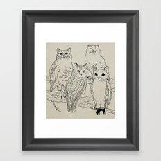 owls&cats Framed Art Print
