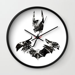 Bat joker Art Print Wall Clock