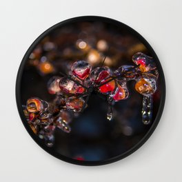 Icy Glaze Wall Clock
