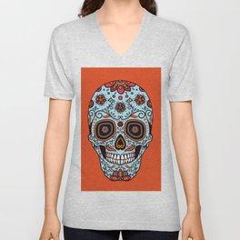 Colorful Skull IV Unisex V-Neck