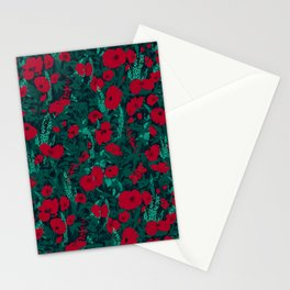 Poppies in the Dark Stationery Cards