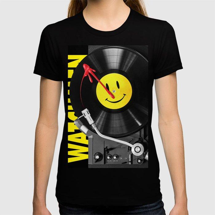 """""""Bloody Turntable"""" Watchmen fan art T-shirt"""