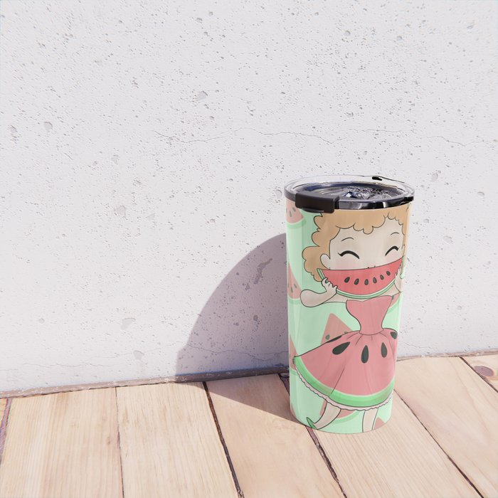 Watermelon Smile Travel Mug