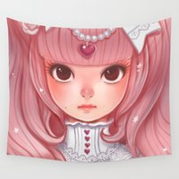 lolita Wall Tapestries featuring Lolita in my heart by Coffeshere