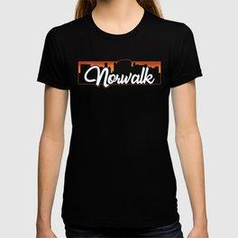 Vintage Norwalk Connecticut Sunset Skyline T-Shirt T-shirt