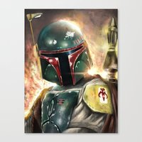 boba Canvas Prints featuring Boba Fett by Mishel Robinadeh
