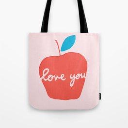 Apple Love You Tote Bag
