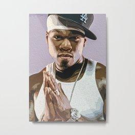 50 Cent American Rapper Metal Print