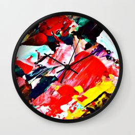 Red Intersections Wall Clock