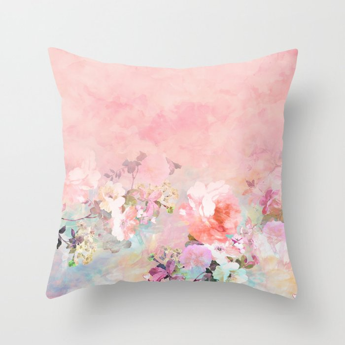 Modern Blush Watercolor Ombre Floral Watercolor Pattern