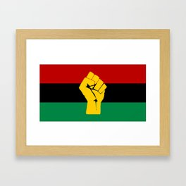 Pan African Flag Framed Art Print