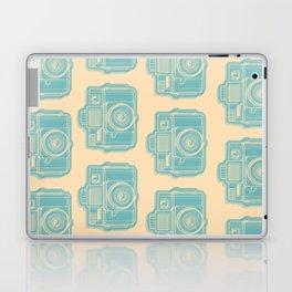 I Still Shoot Film Holga Logo - Reversed Turquoise/Tan Laptop & iPad Skin