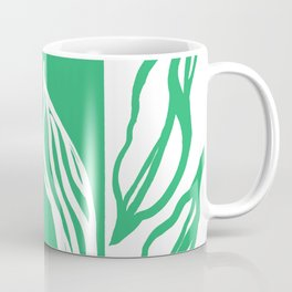 Long Leaf Stripe green Coffee Mug