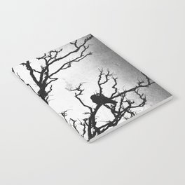 Rustic Crows Black Birds Tree Modern Cottage Chic Art A465B Notebook