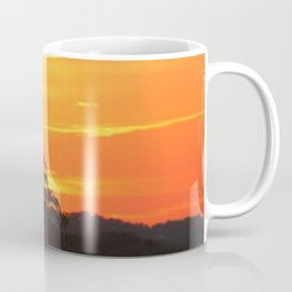 Red Sky Sunset with Red Robin Coffee Mug