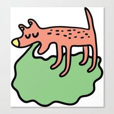 Vomiting dog Canvas Print