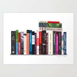 Bookstack No. 24 Art Print