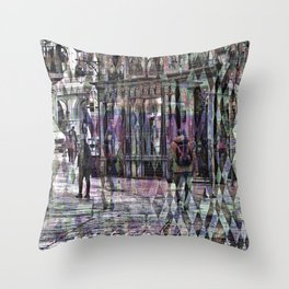 Care about senses above numbed action selfishness. Throw Pillow