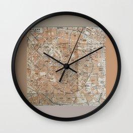 Milan, Italy / Milano, Italia antique map Wall Clock