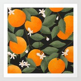 fresh citrus // dark Art Print