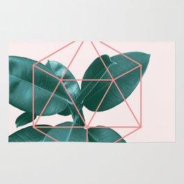 Geometric greenery II Rug
