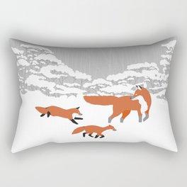 Foxes - Winter forest Rectangular Pillow