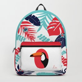toucan and foliage Backpack
