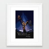 nicki Framed Art Prints featuring Native Nicki by Siouxciety