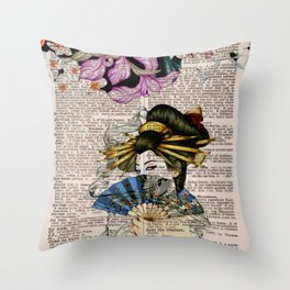 Page J Throw Pillow