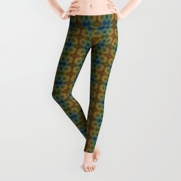 Capricorn Sun Sign Flower of Life Pattern Leggings