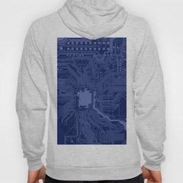 Blue Geek Motherboard Circuit Pattern Hoody