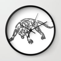 courage Wall Clocks featuring Courage by Larissa