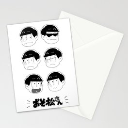 Six Same Faces Stationery Cards
