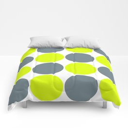 green and gray circles Comforters