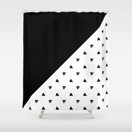 Triangle and triangles Shower Curtain