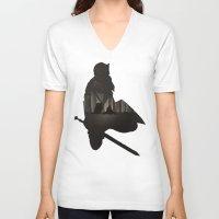 dark souls V-neck T-shirts featuring Dark Souls by Oujo