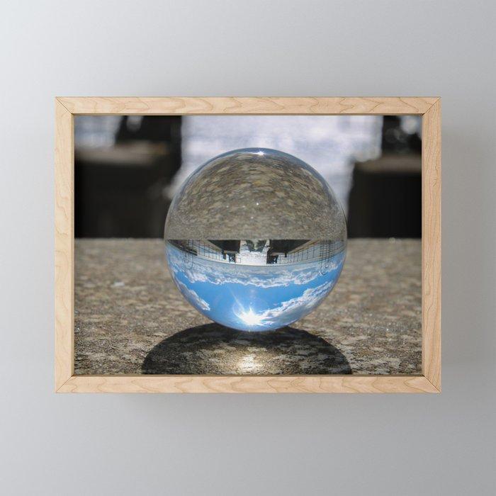 lines and sphere Framed Mini Art Print