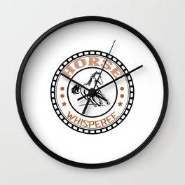 Horse Whisperee - Horse Designs Wall Clock