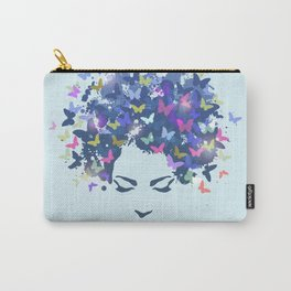 Woman Butterfly Carry-All Pouch