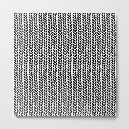 Knit Wave 2 Metal Print