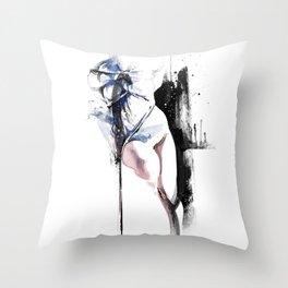 Shibari - Japanese BDSM Art Painting #4 Throw Pillow