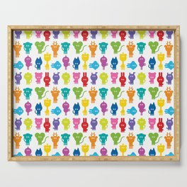 Tiny colorful animals Serving Tray