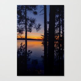 Northern Woods Sunset Canvas Print