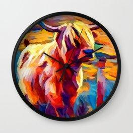 Highland Cow 4 Wall Clock