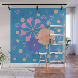 Springy Floral Pattern Wall Mural