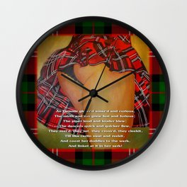 The Dancers Quick and Quicker Flew Burns Supper Wall Clock