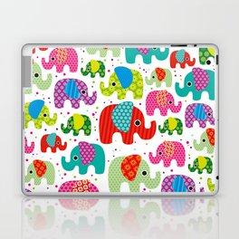 Colorful india elephant kids illustration pattern Laptop & iPad Skin
