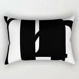 Hidden Letters. Baskerville H Rectangular Pillow