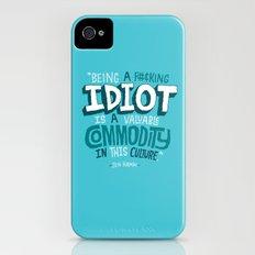 Idiot Commodity iPhone (4, 4s) Slim Case